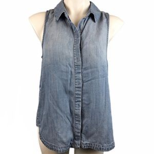Cloth and Stone Button Up Sleeveless Top